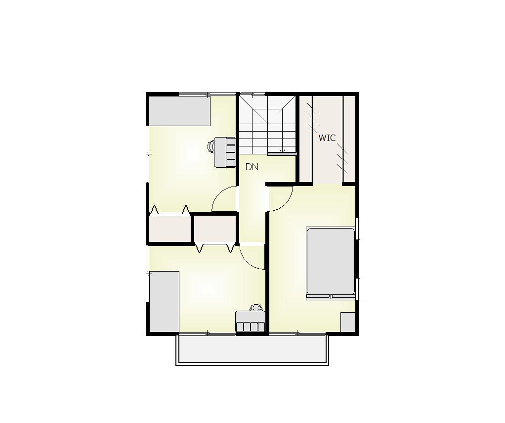 金ケ瀬モデル2階平面図