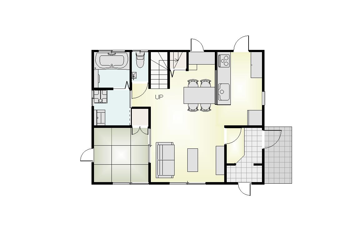 北ノ内モデル1階平面図